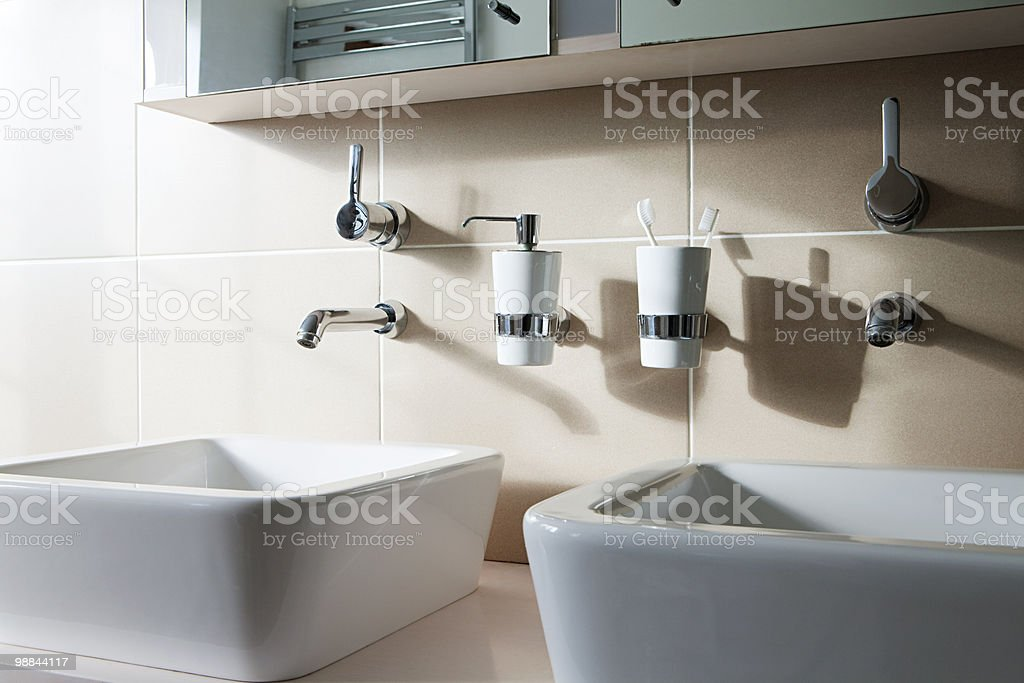 Two sinks royalty-free stock photo