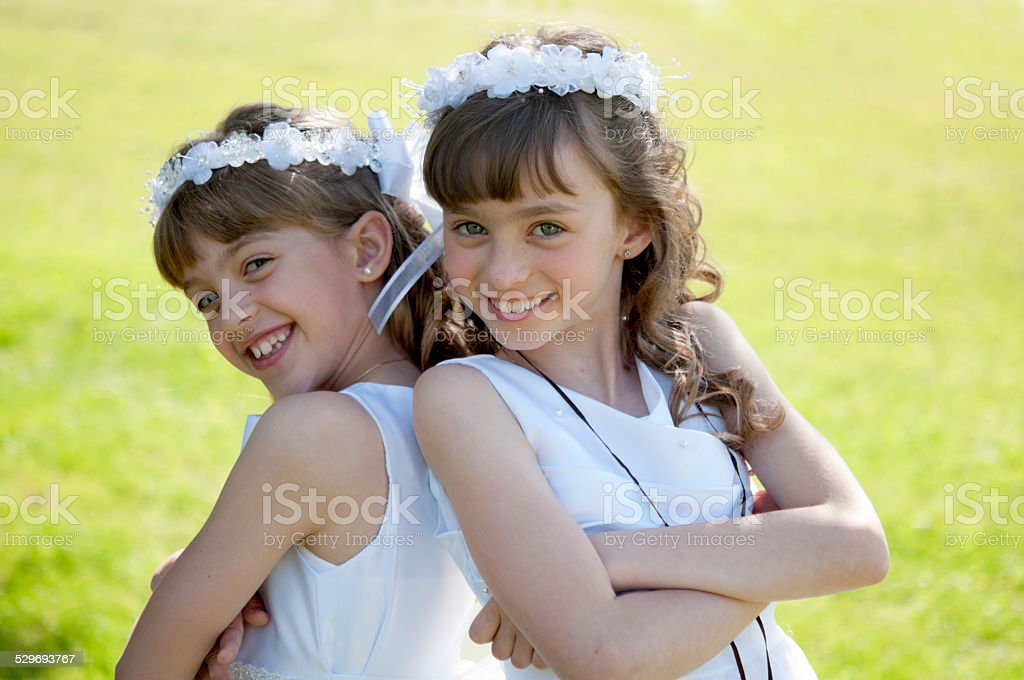 Two Sisters stock photo