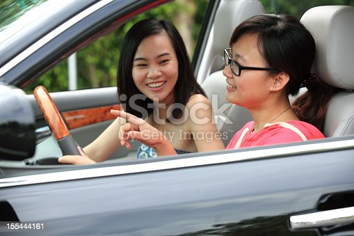907987862 istock photo Two sisters talking in a car 155444161