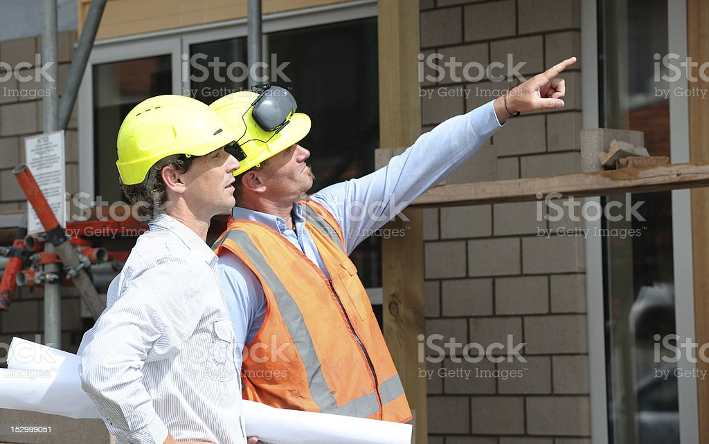 Two Site Workers royalty-free stock photo