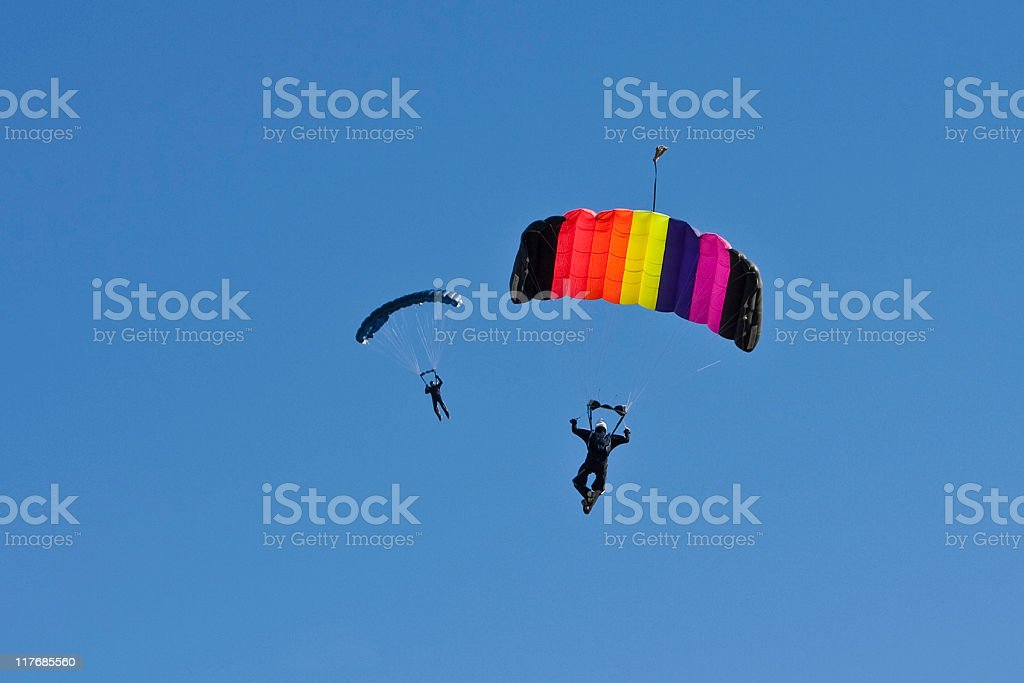 Two Sky Divers royalty-free stock photo