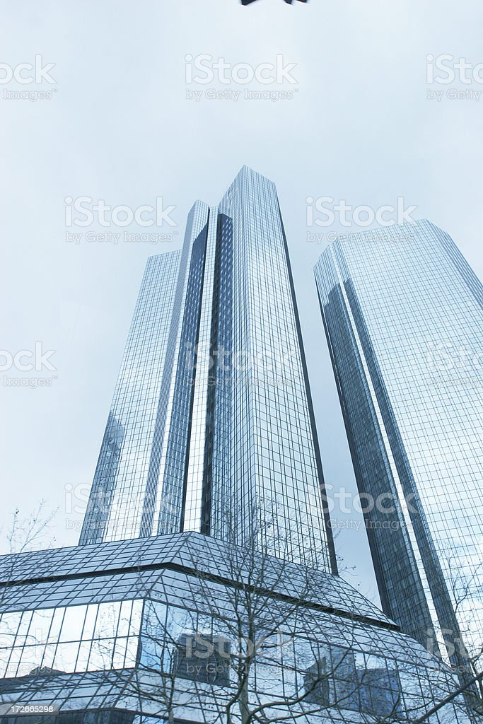 Two skyscrapers royalty-free stock photo