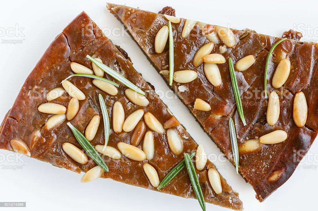 Two slices of Castagnaccio photo libre de droits