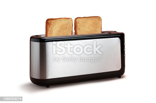 Two Slices of Toast in Toaster