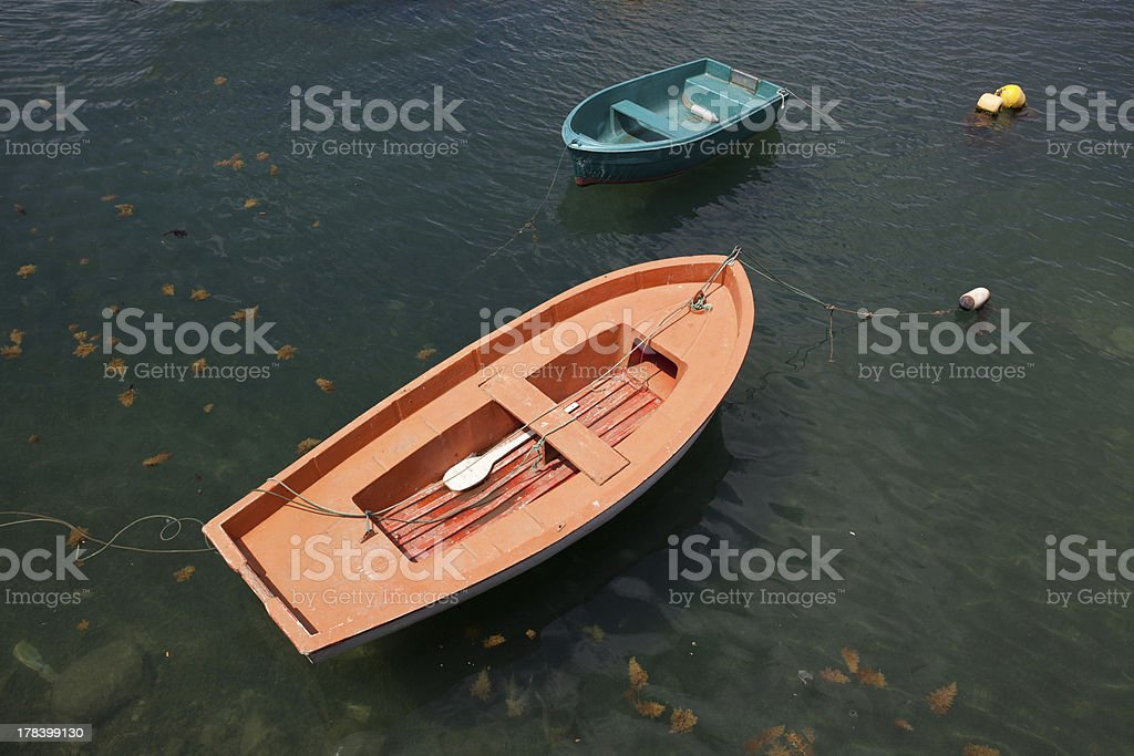 Two Small Boats royalty-free stock photo