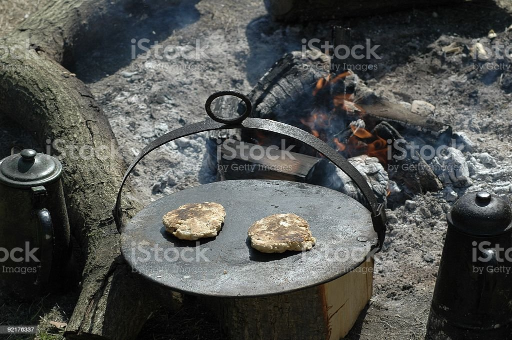 Two small breads cooking stock photo