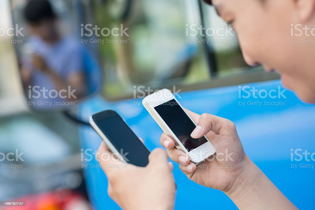 Zwei smartphones Lizenzfreies stock-foto