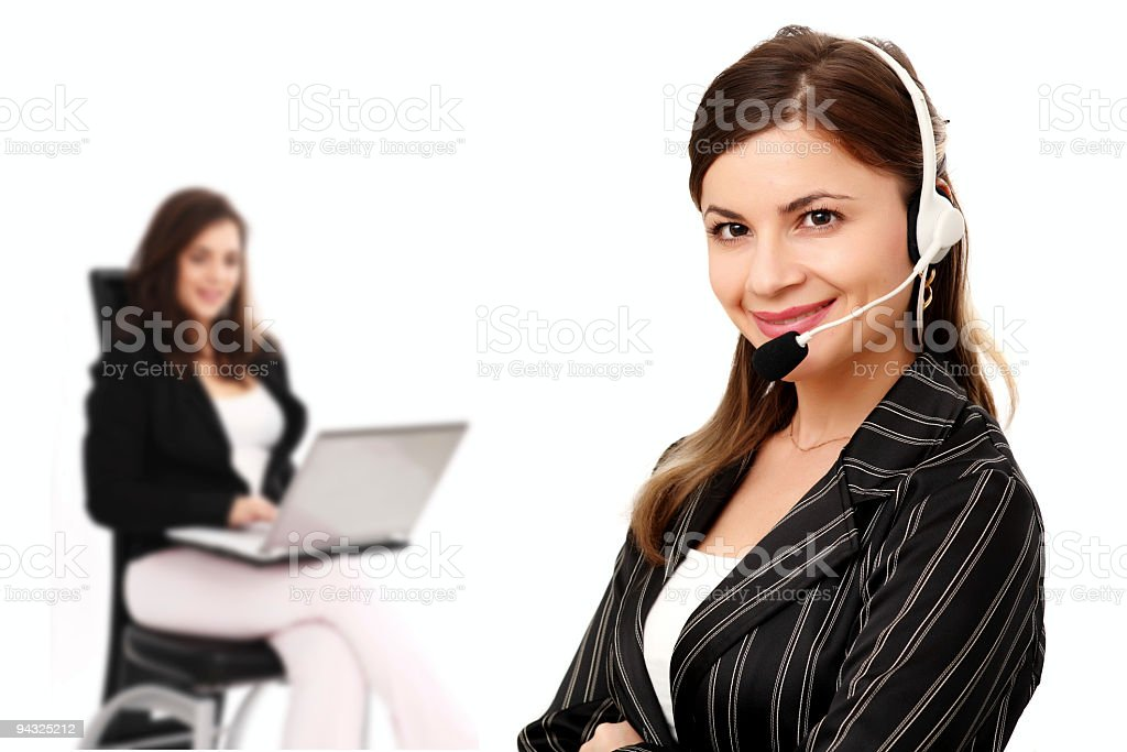 Two smiling business woman royalty-free stock photo