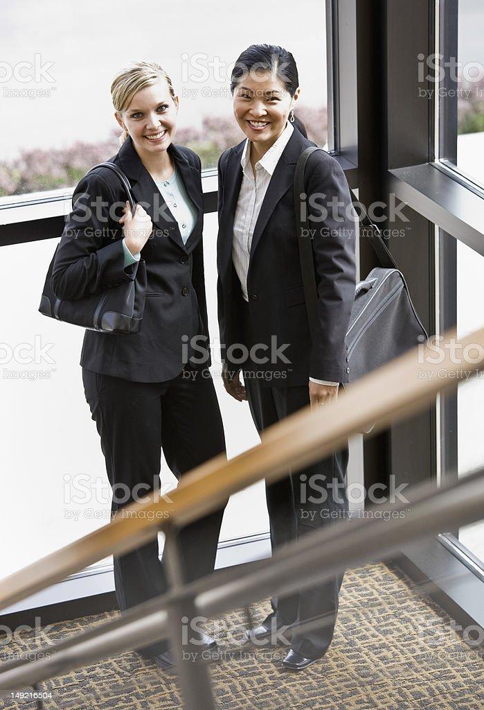 Two Smiling Businesswomen royalty-free stock photo