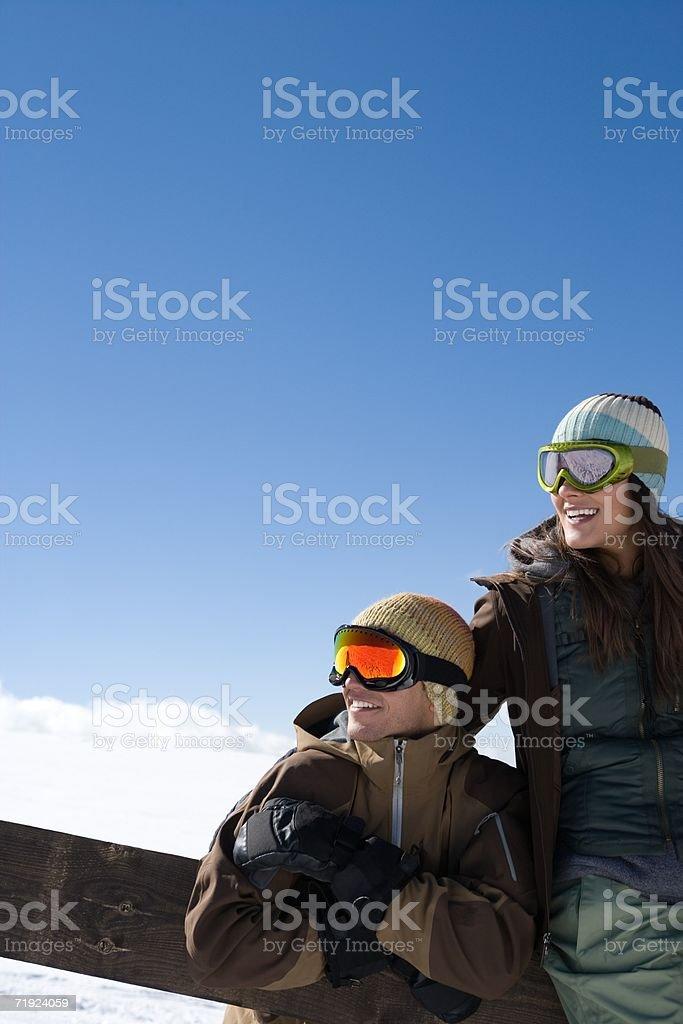 snowboarders dos foto de stock libre de derechos