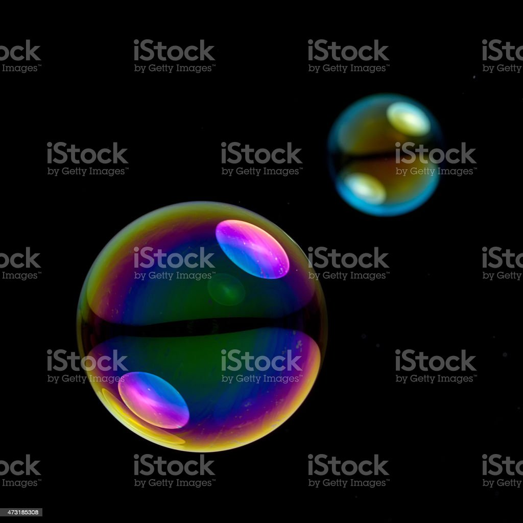two soapbubbles stock photo