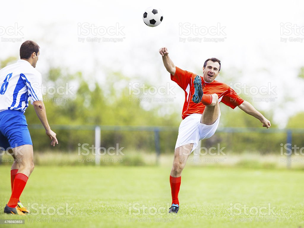 Two soccer players. royalty-free stock photo