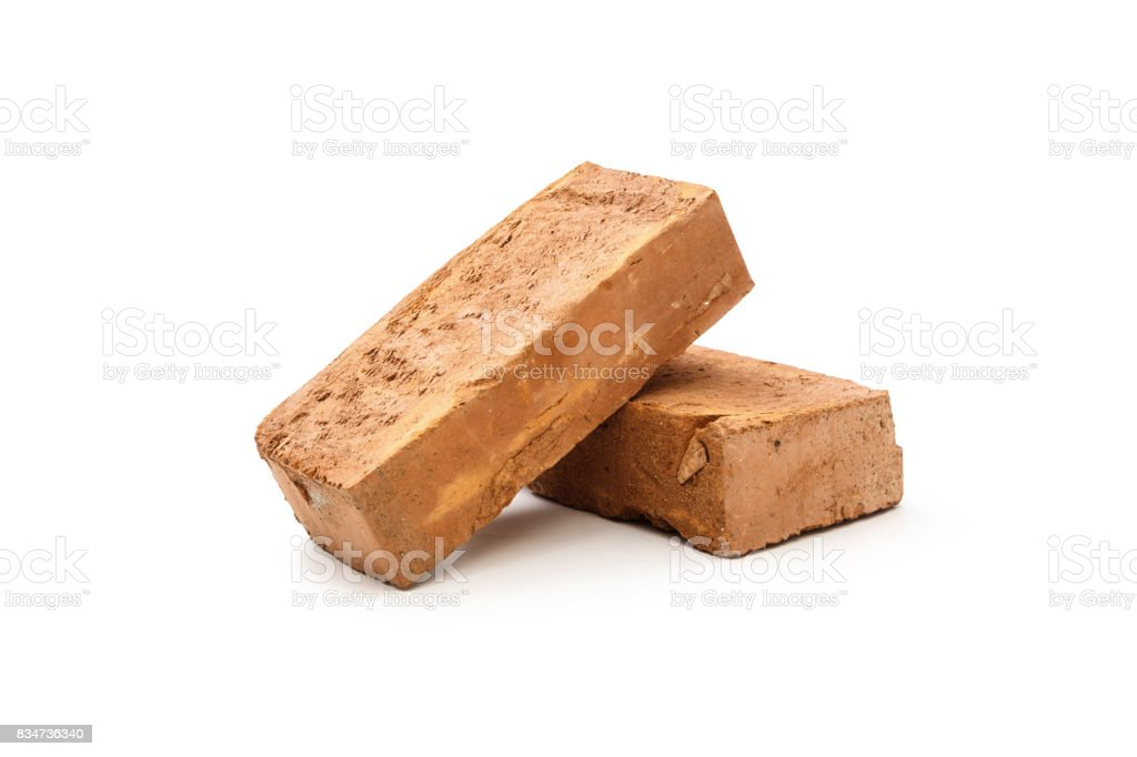 Two solid bricks royalty-free stock photo