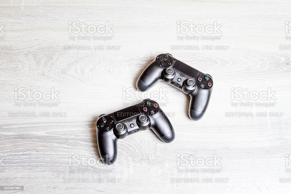 Two Sony Playstation 4 Controller stock photo
