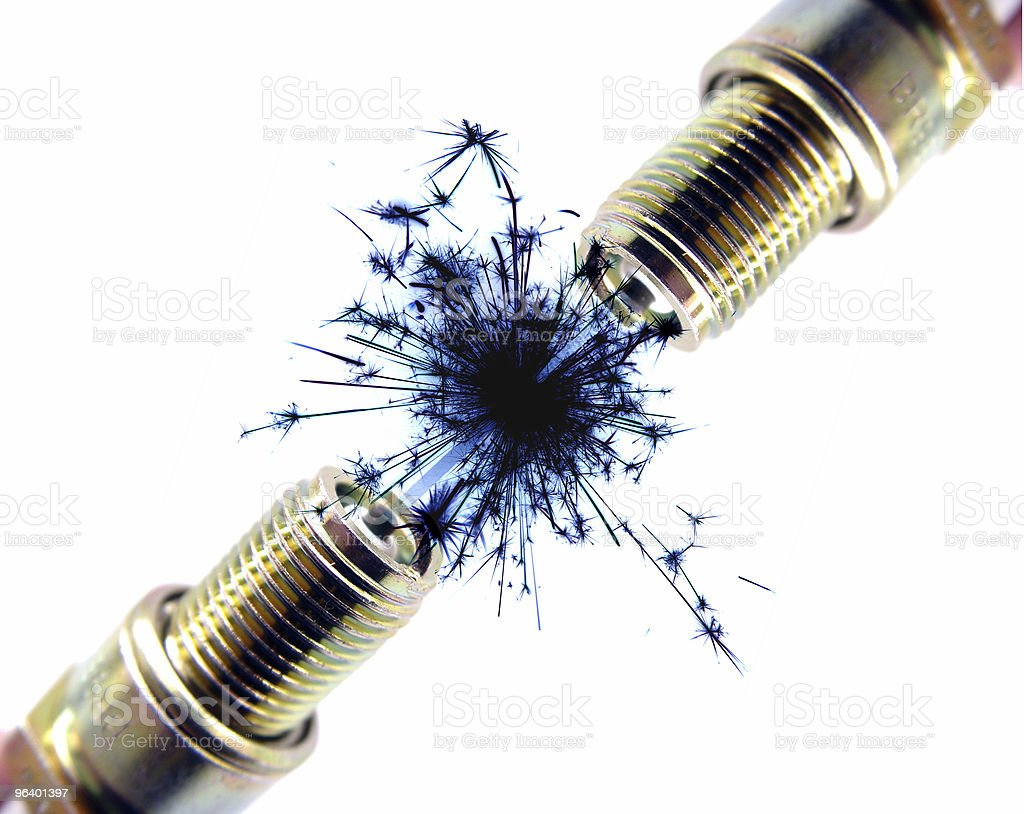 Two Sparkplugs together - Royalty-free Abstract Stock Photo
