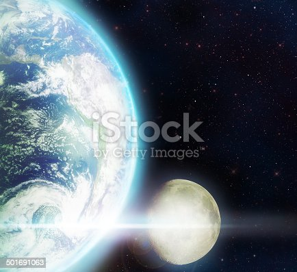 istock Two spheres on a journey through the night 501691063