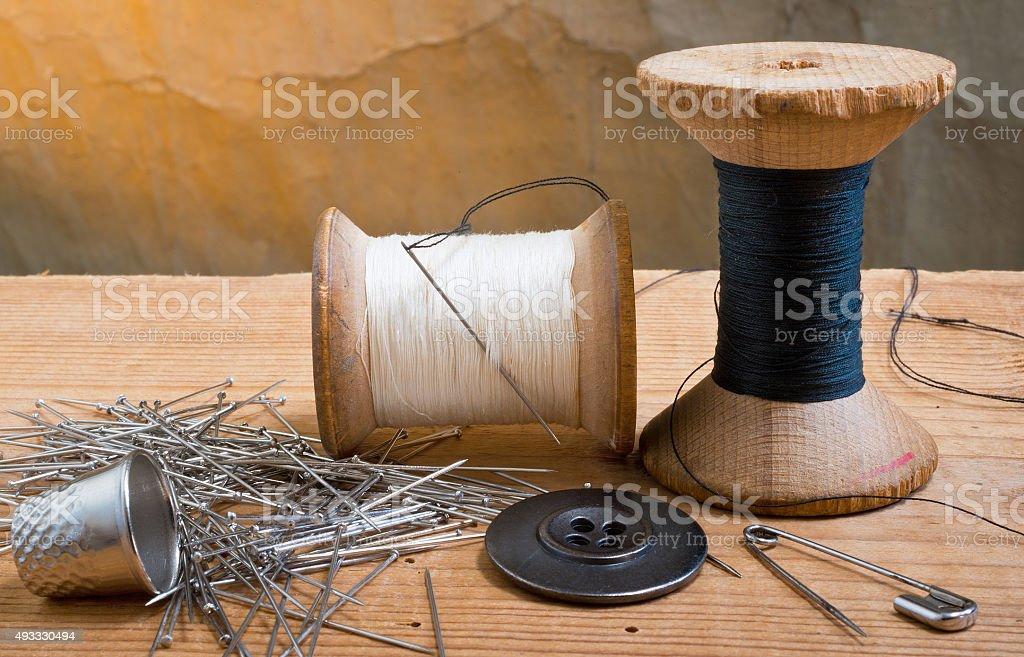 Dois spools de encadeamento - foto de acervo