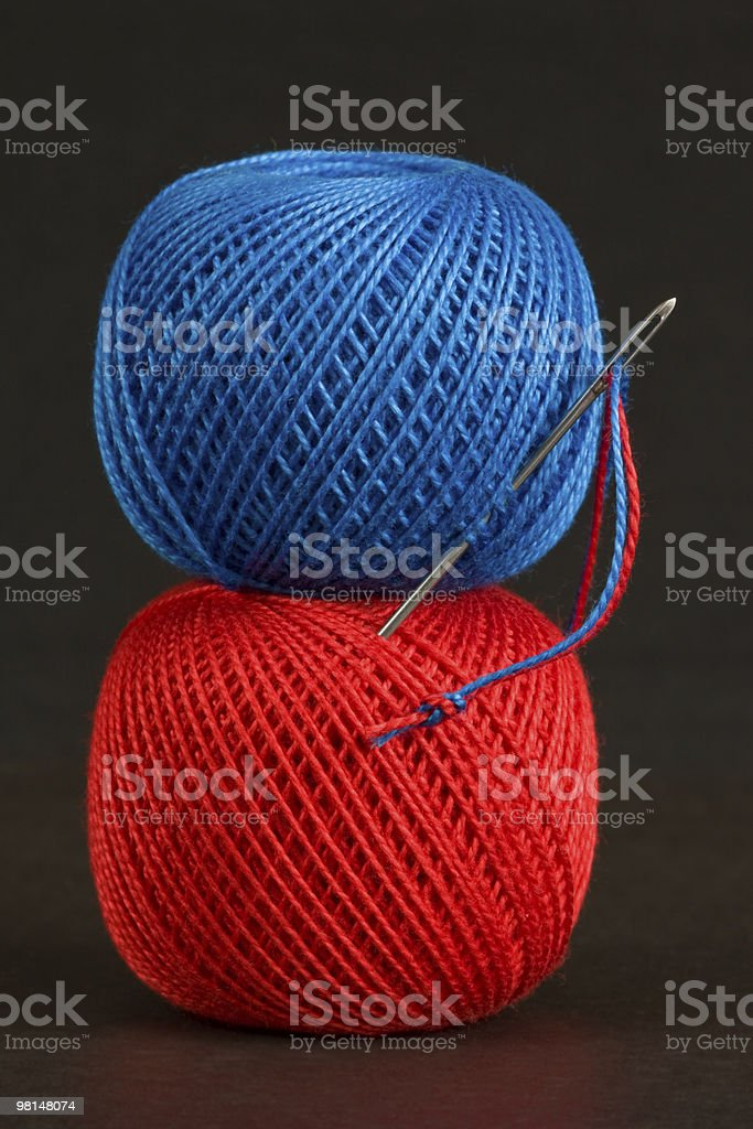 Two spools of thread. royalty-free stock photo