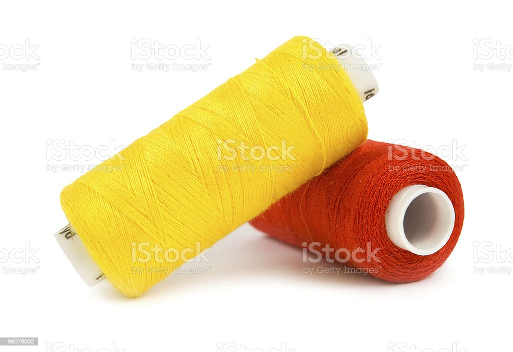Two spools royalty-free stock photo