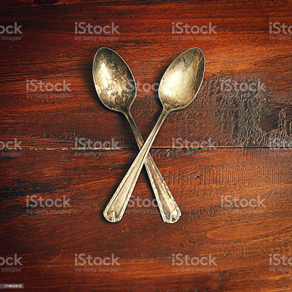 Two spoons royalty-free stock photo