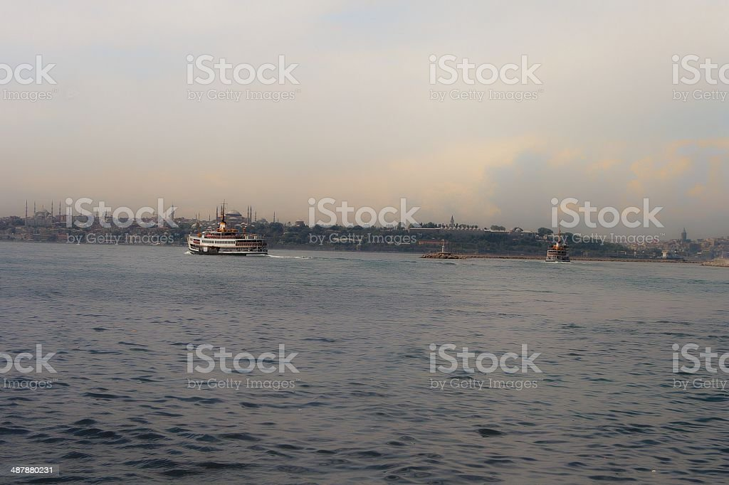 two steamers royalty-free stock photo