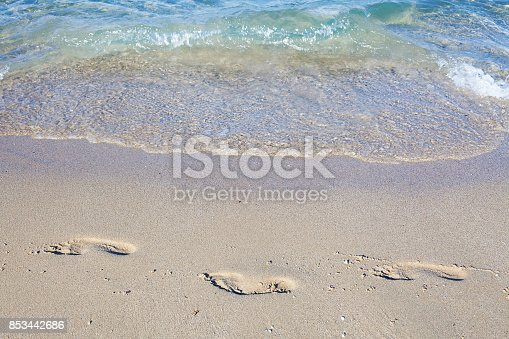 istock Two Steps in Sand 853442686
