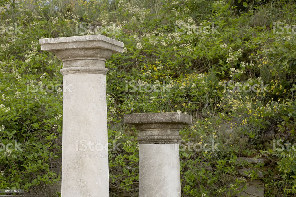 Two Stone Columns stock photo