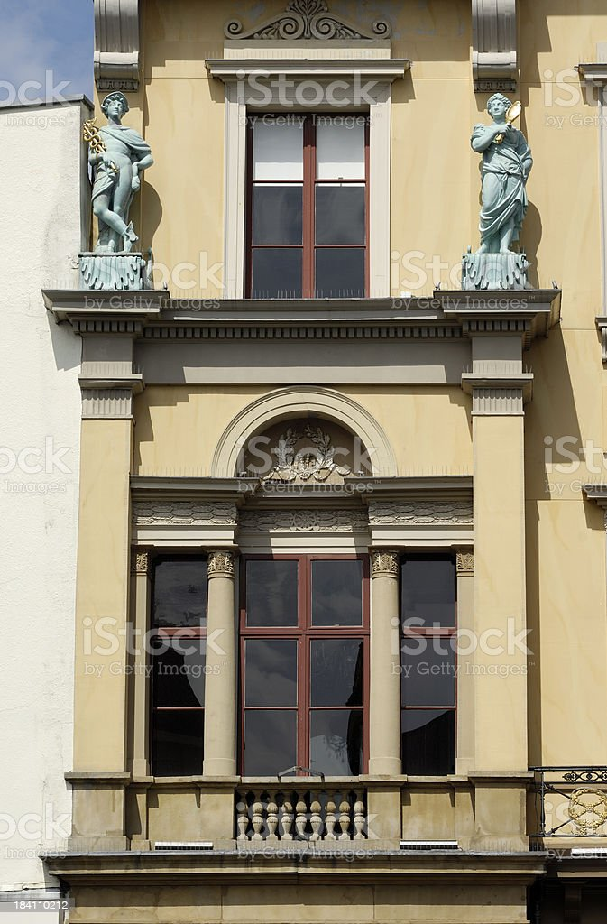 Two stone statues royalty-free stock photo