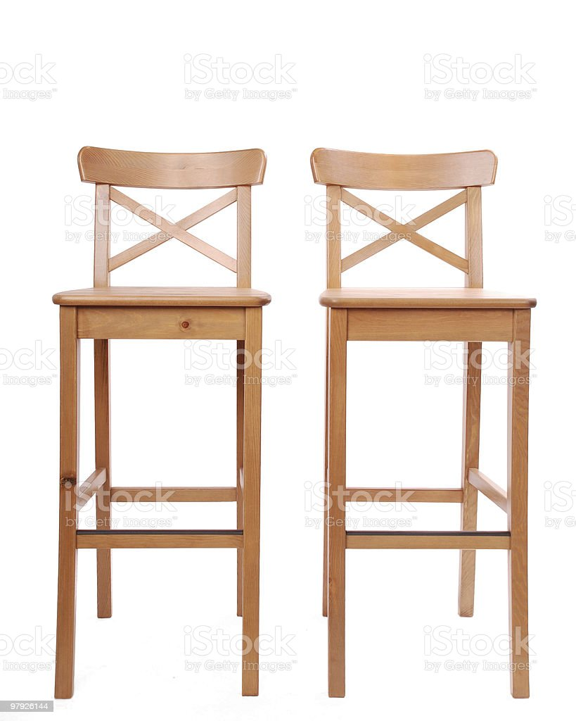 Two stools in a row royalty-free stock photo