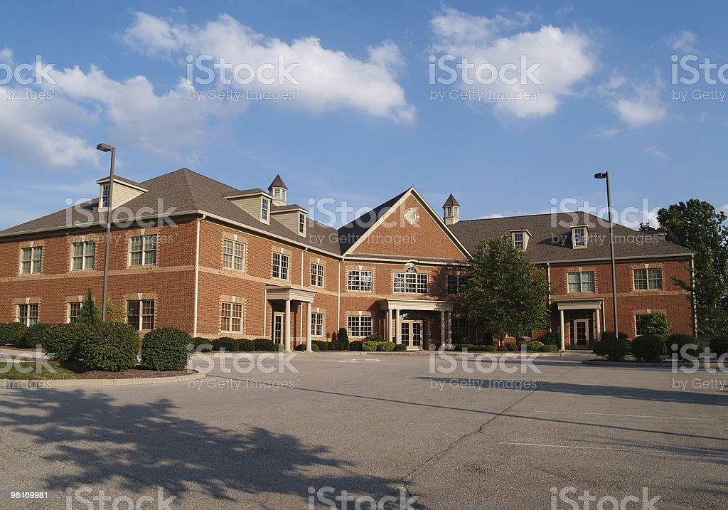 Two story brick office building royalty-free stock photo