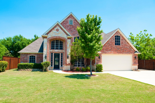 Two story brick residential home