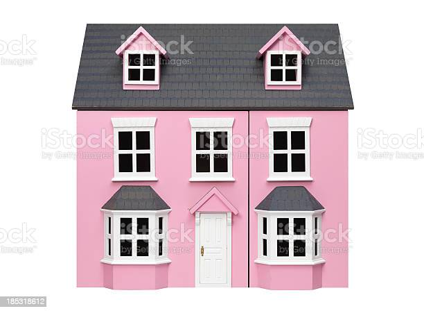 Two story pink model play house with white trim and door picture id185318612?b=1&k=6&m=185318612&s=612x612&h=yai3wxdsfihtvyxyymqpfj3oukeymljjd9ggc0d oum=