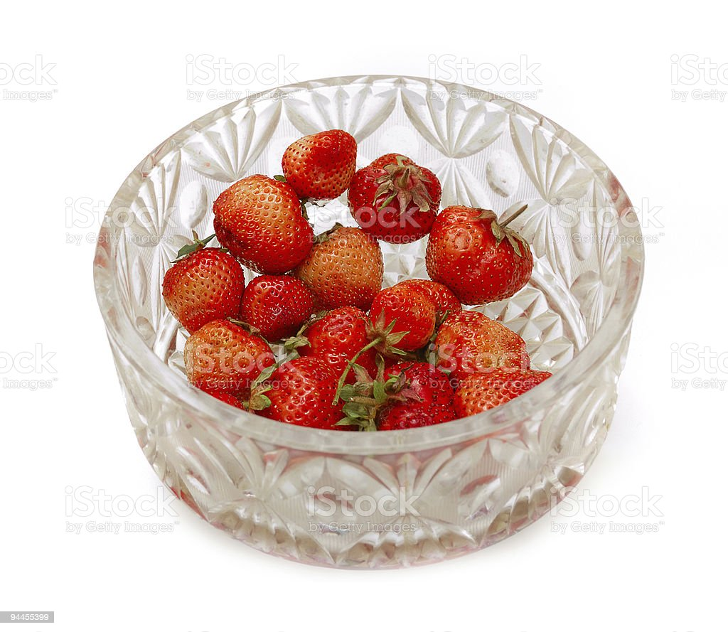 two strawberries royalty-free stock photo