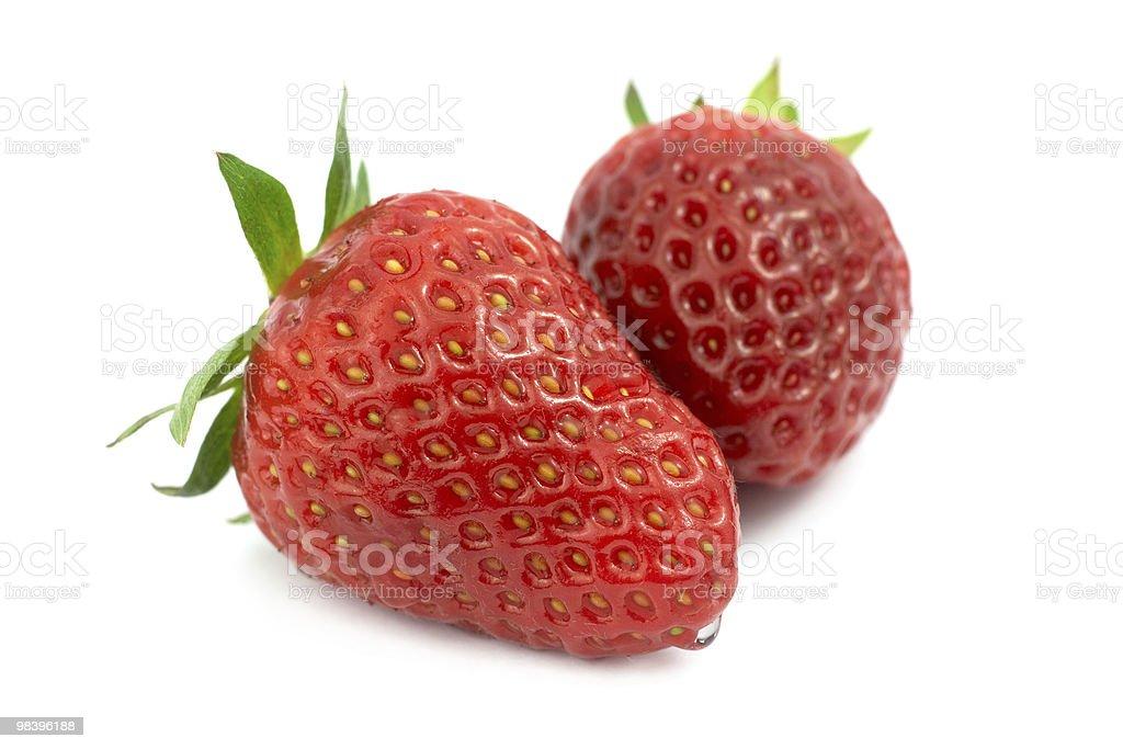 두 딸기 제공 royalty-free 스톡 사진