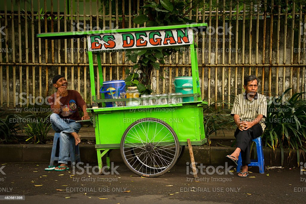 Two Street Food Vendors Of Malang Indonesia Stock Photo Download Image Now Istock