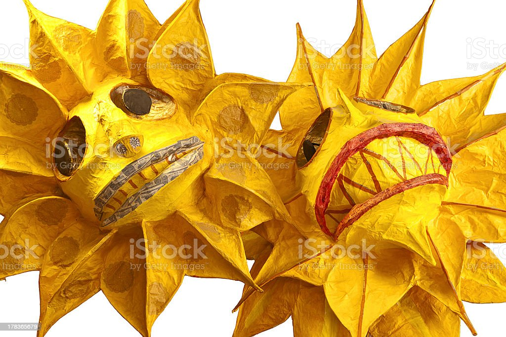 Two Suns Parade Props stock photo