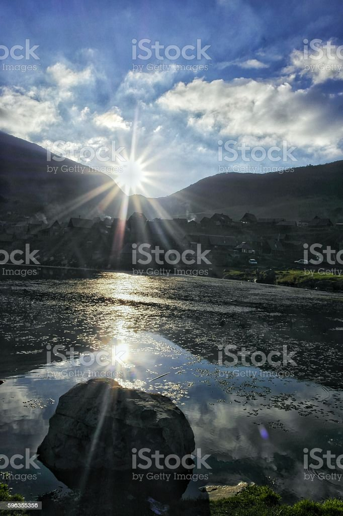Two Suns royalty-free stock photo