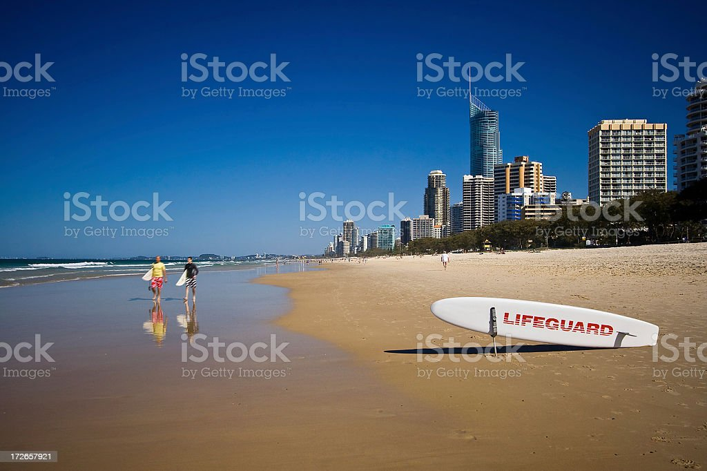Two surfers and a surf royalty-free stock photo