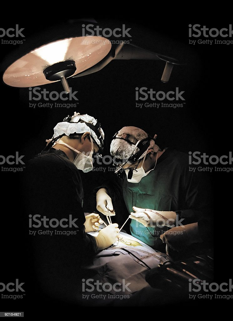 two surgeons operating royalty-free stock photo