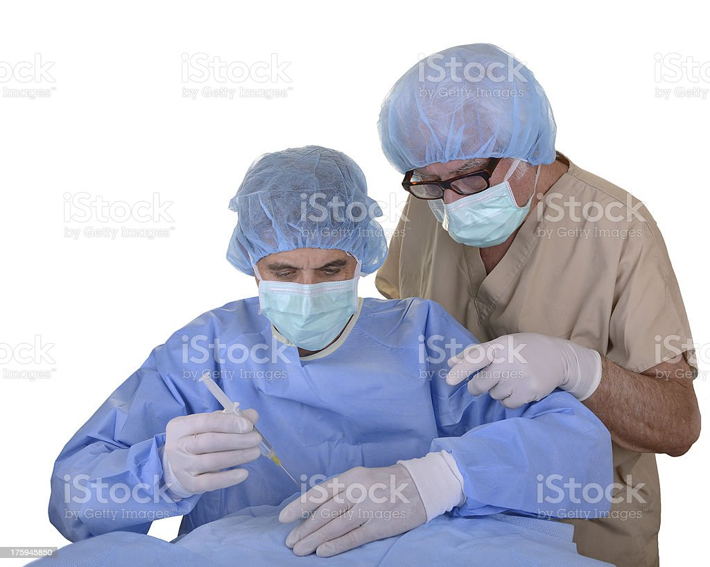 Two surgeons royalty-free stock photo