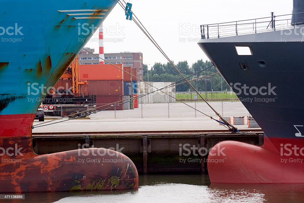 Two tankers royalty-free stock photo