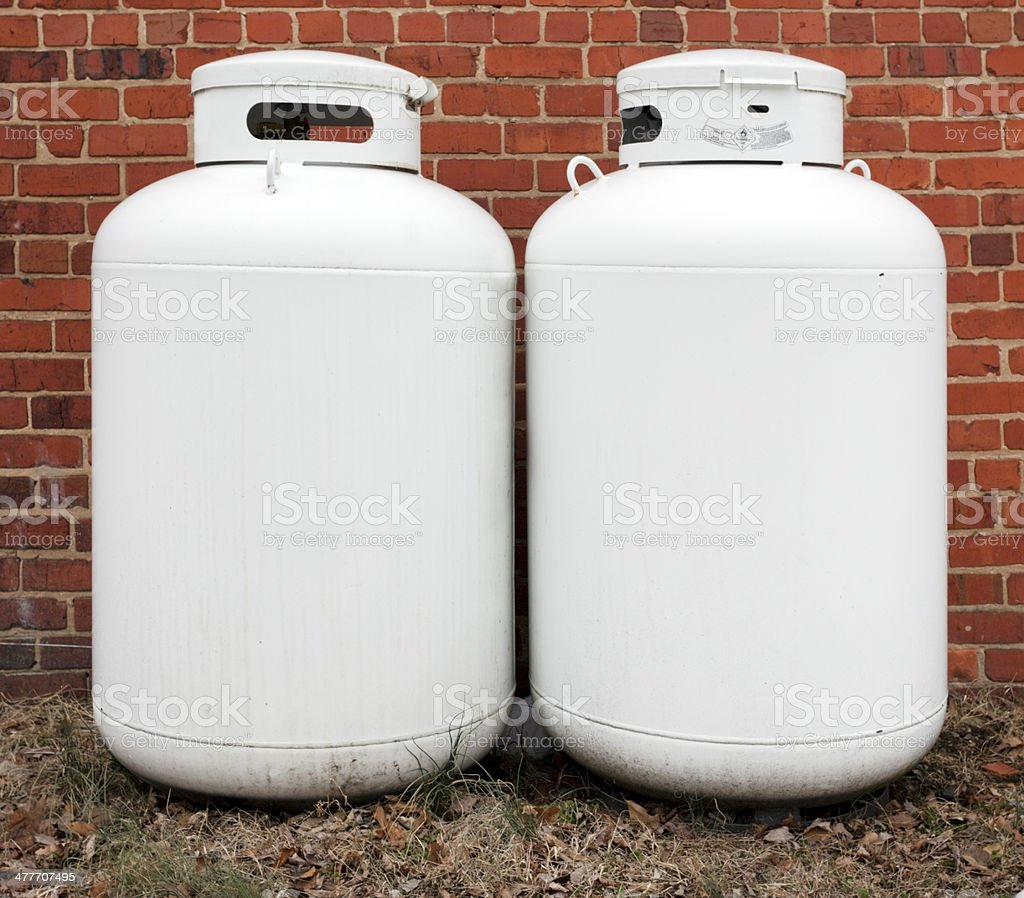 Two Tanks stock photo