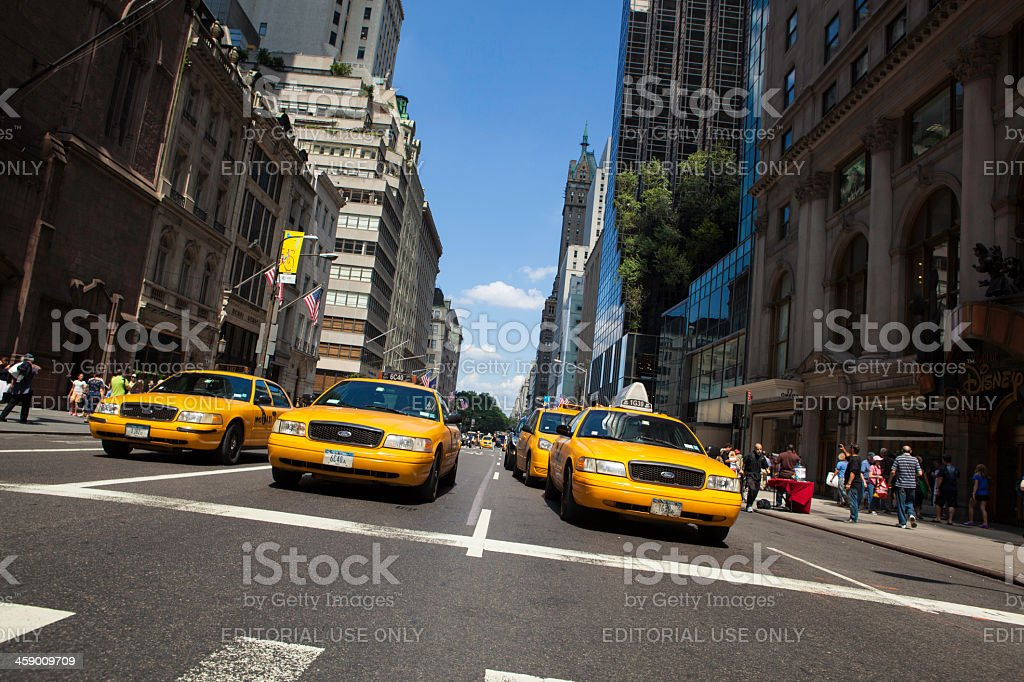 Two taxis in new york city royalty-free stock photo