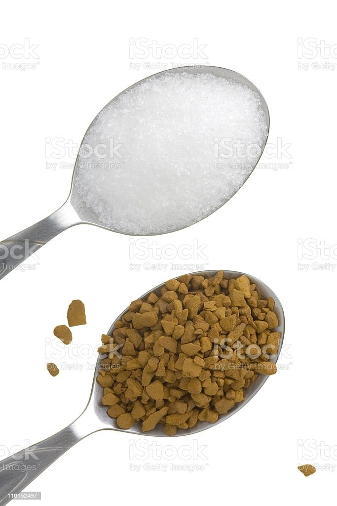 two teaspoons royalty-free stock photo