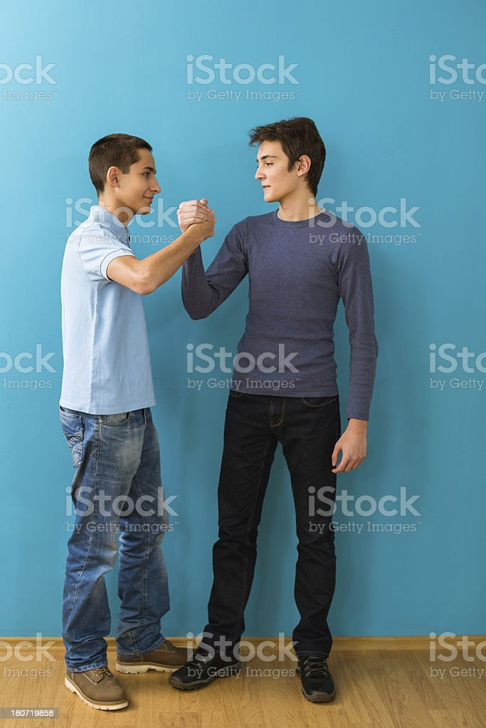 Two teen friends royalty-free stock photo