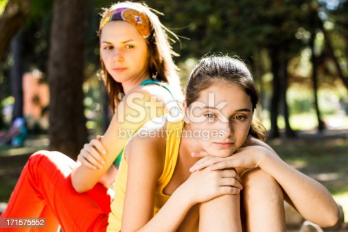 istock two teenage sisters family problem 171575552