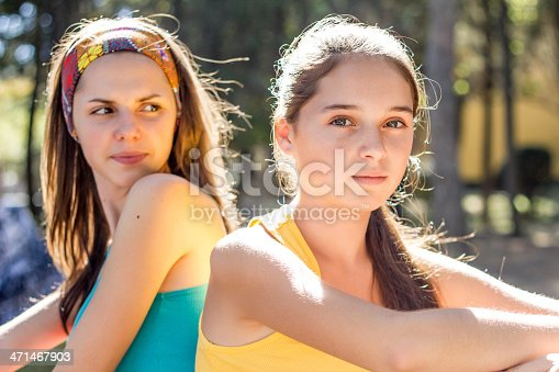 istock two teenage sisters family problem 471467903