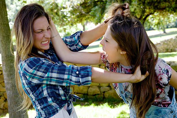 Girl on girl cat fight