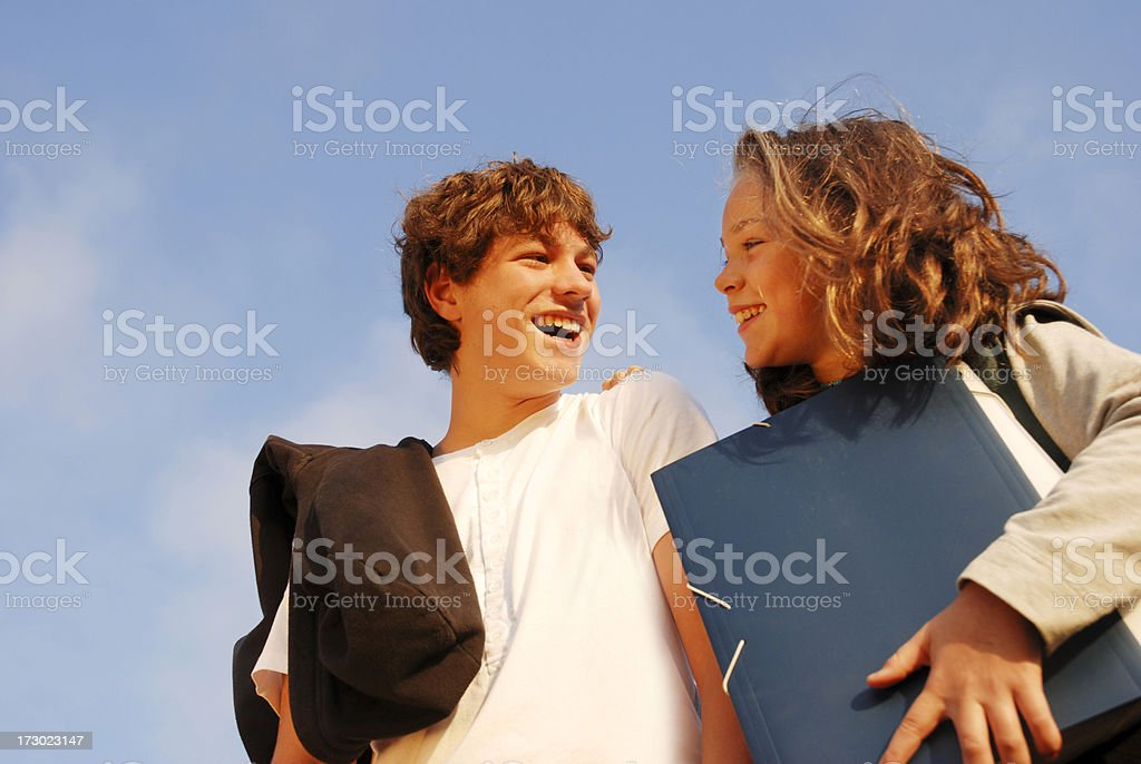 Two teenager students royalty-free stock photo