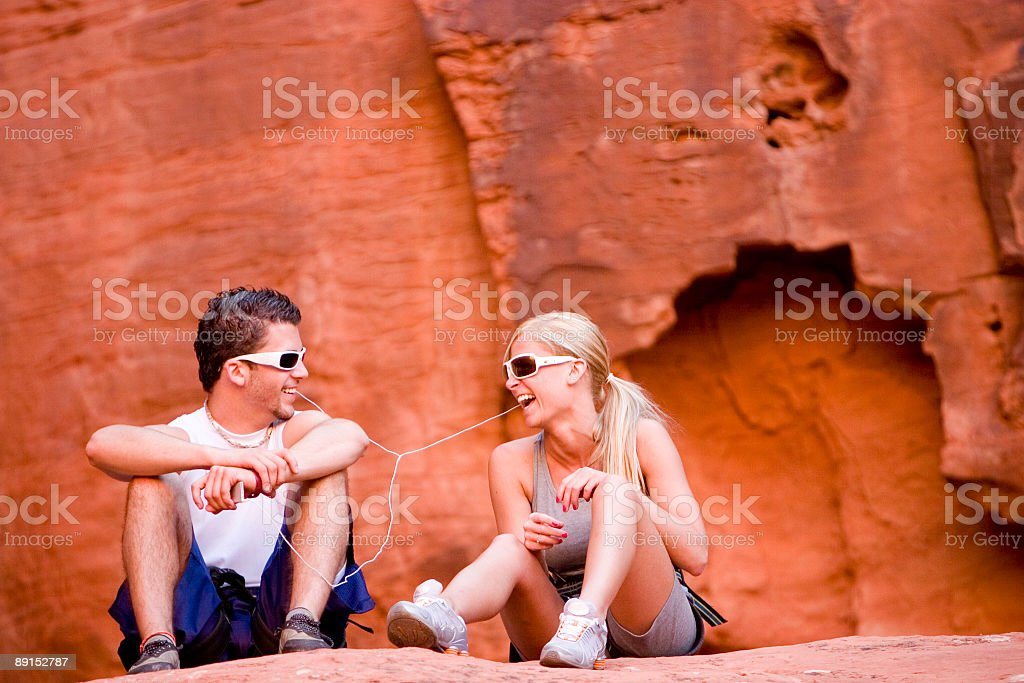 Two Teens Laughing royalty-free stock photo
